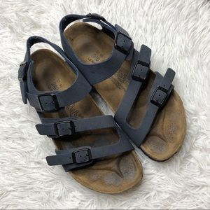 Birkenstock Birki's 3 Strap Navy Sandals